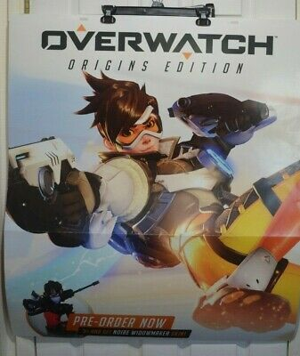 OVERWATCH Game Stop Promotional Store Poster Large 2-Sided 33'x38'