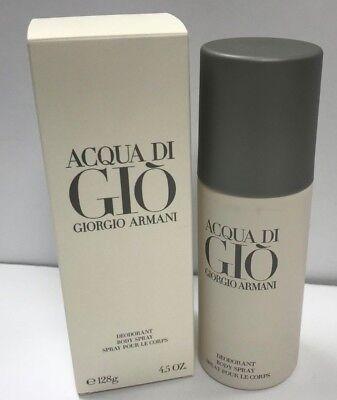 Giorgio Armani Acqua Di Gio Body Spray Deodorant For Men 4.5 oz/128 g New Sealed Acqua Di Gio Body Spray