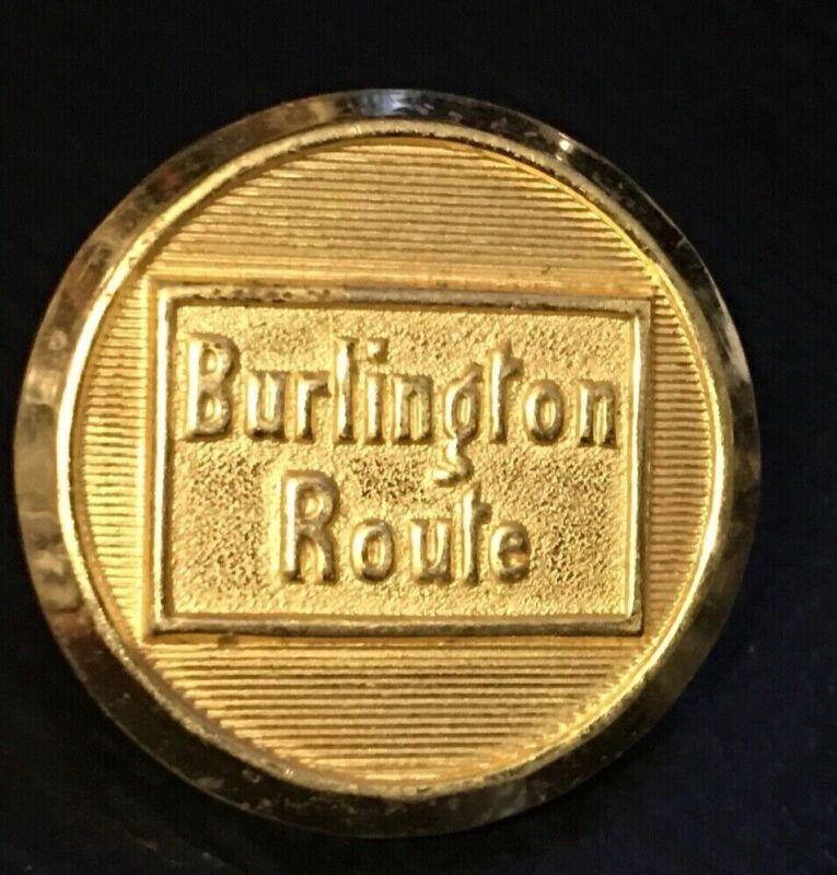 Burlington Route Railroad uniform buttons