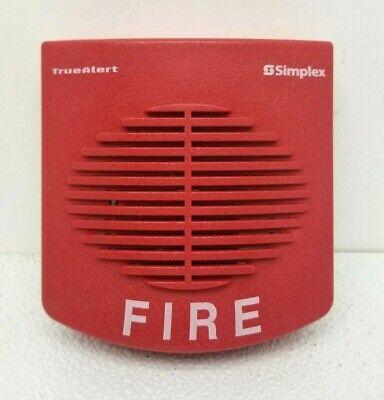 Simplex Tyco Fire Alarm Horn Truealert Red Signal Device 4901-9820