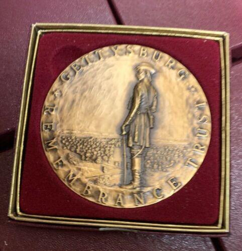 "HUGE Gettysburg Battlefield National Park Civil War Bronze Medal Round 3"""