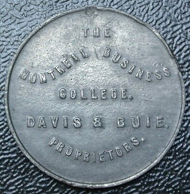 "MONTREIL BUSINESS COLLEGE ""DAVIS & BUIE"" Proprietors TOKEN - SCARCE"