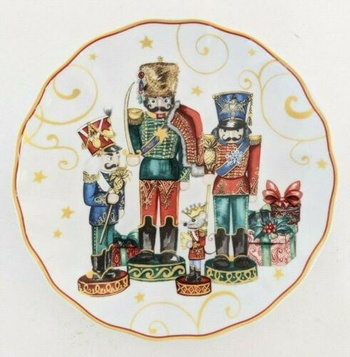 4 New Williams Sonoma Twas Night Before Christmas Nutcracker salad plates