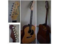 Rare Vintage Fender Concord Acoustic Guitar