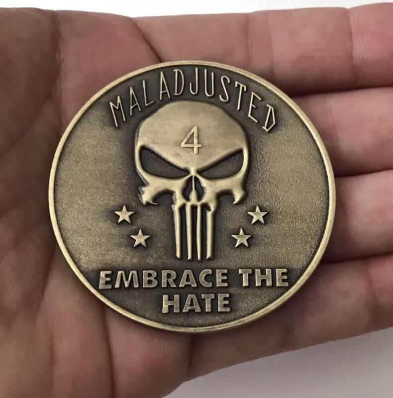 NAVY SEALS NAVAL SPECIAL WARFARE GROUP 4 NSWG MALADJUSTED CHALLENGE COIN NON CPO