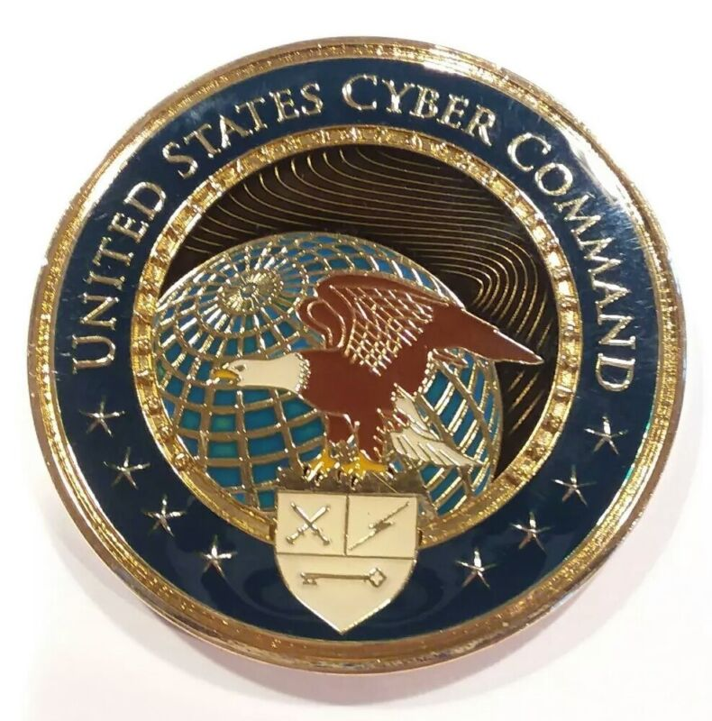 """Authentic UNITED STATES CYBER COMMAND USCYBERCOM 2"""" CHALLENGE COIN"""