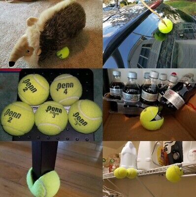 LOT OF 10 *CLEAN* Tennis Balls Dog Toys Fetch Catch Walkers Garage Corner Safety