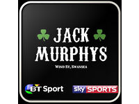 Jack Murphys Bar Supervisor / Duty Manager Wanted