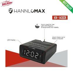 Electric LED Digital Dual Alarm Clock Radio AM/FM Battery Backup Large Display