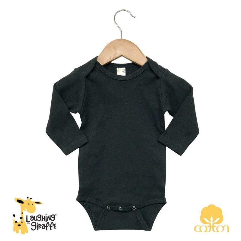 Bodysuit Infant Baby One-Piece Blank Short Sleeve Long Sleeve Black 100% Cotton