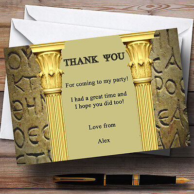 Ancient Greek Greece Toga Personalised Party Thank You - Toga Ancient Greece