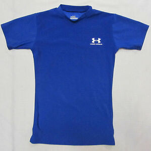Under armour compression shirt youth medium blue ebay for Under armour swim shirt youth