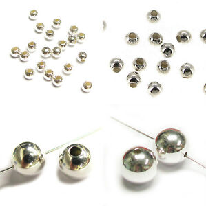Sterling-Silver-Round-Seamless-Bead-Spacer-2mm-3mm-4mm-6mm-8mm-10mm-Many-Size
