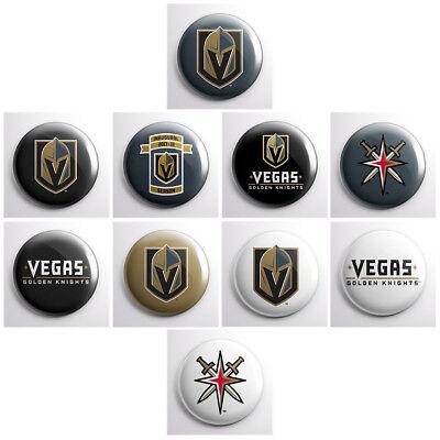 "LAS VEGAS GOLDEN KNIGHTS - NHL pinback buttons - sports team pin - 1"" pins"