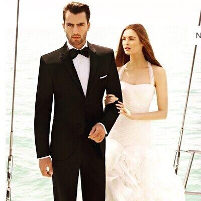 White By Vera Wang Halter Organza and Satin Wedding Dress Size 6 ()
