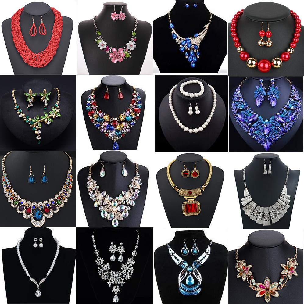Jewellery - Fashion Crystal Necklace Bib Choker Chain Chunk Statement Pendant Women Jewelry