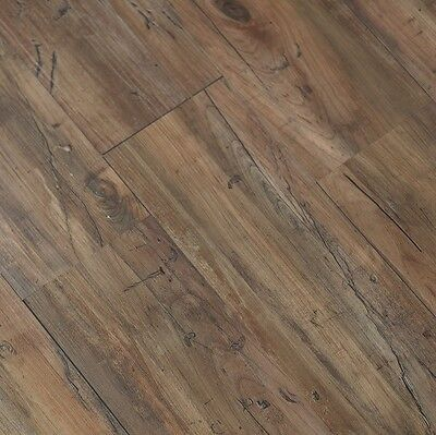 Vinyl Plank Flooring Luxury Laminate Click Wood Grain Kitchen Bathroom Floor