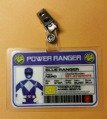 Power Rangers Id Badge-Blue Ranger Cosplay Kostüm