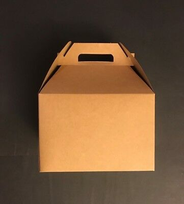 X-L Kraft Gable Boxes Party Favor Boxes 9x6x6 10 Cts Favor Gable Boxes