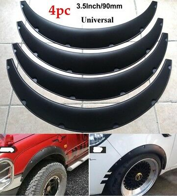 "4Pcs 3.5""/90mm Universal Flexible Car Fender Flares Extra Wide Body Wheel Arches"