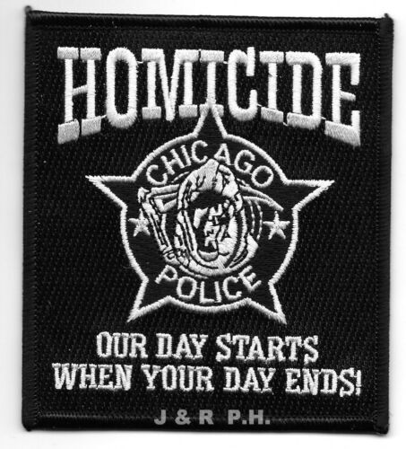 """Chicago  Homicide, Illinois  (3.5"""" x 4"""" size) shoulder police patch  (fire)"""