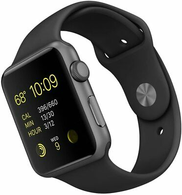 Apple Watch Series 7000 (A1554) 42mm SpaceGrey Aluminium- Sport Black strap - S