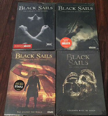 BLACK SAILS Complete Seasons 1-4 DVD set 1 2 3 and 4 /  2016 brand new `