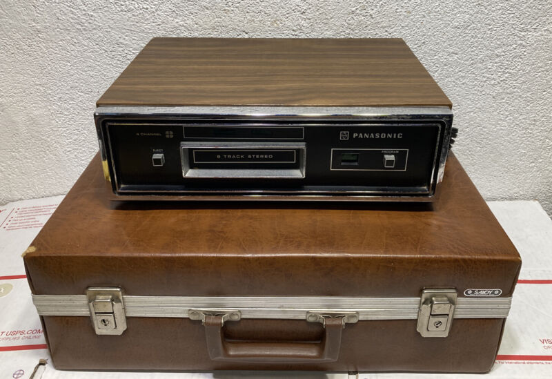 Panasonic RS-845US Quadraphonic 8track Player Tested -Works Great $ 8track Tape