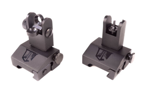 Ozark Armament Flip Up Iron Sights Military Grade Sight All Metal Construction