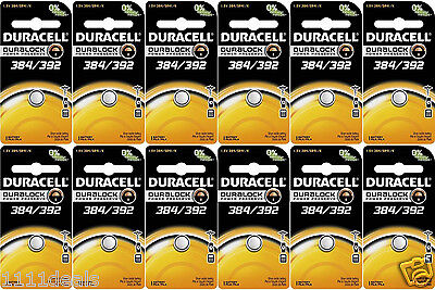 Duracell 392 Coin Cell Silver Oxide Batteries x 12