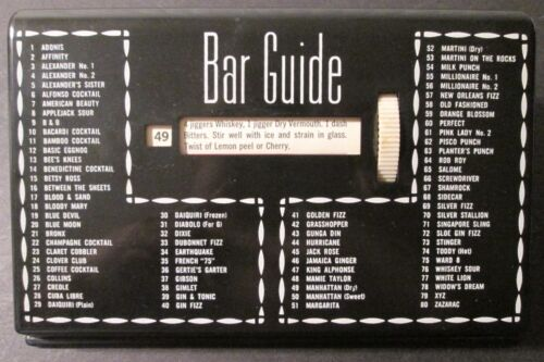 Vintage BAR GUIDE SCROLLING COCKTAIL RECIPES Glenn Shaw Creations ~ USA ~ Nice!