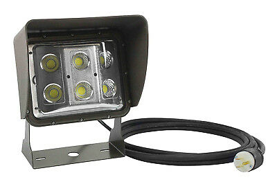 60 Watt LED Low Profile Wall Pack Light With Glare Shield & 55