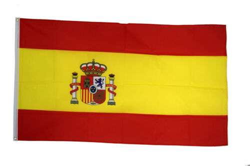 Spain Flags & Bunting - 5 x 3 FT 3 x 2 FT & Giant 8 x 5 FT - Table Hand Spanish