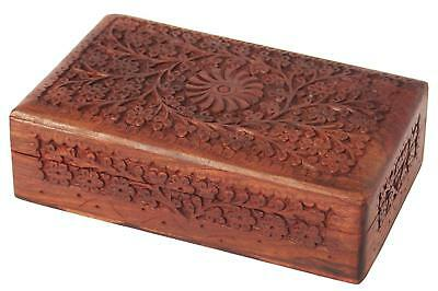 8 Inch wooden Jewelry Box Organizer Holder for Women's Special Gift ()