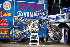 Yamaha Graphics Kit Decals YZF250 YZF450 YZF 250 450 2014-2016 Justin Barcia JGR
