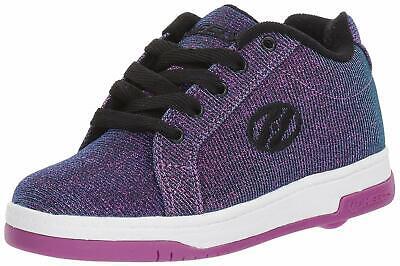 Kids Heelys Girls Split Low Top Lace Up Skateboarding, Purple/Aqua, Size 7.0 Gor