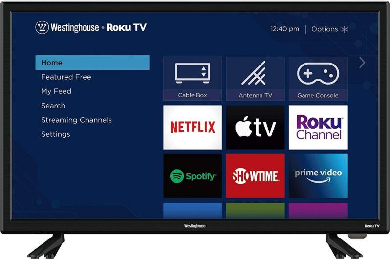 """Westinghouse 24"""" LED 720p HD Smart Roku TV w/ 3 HDMI"""