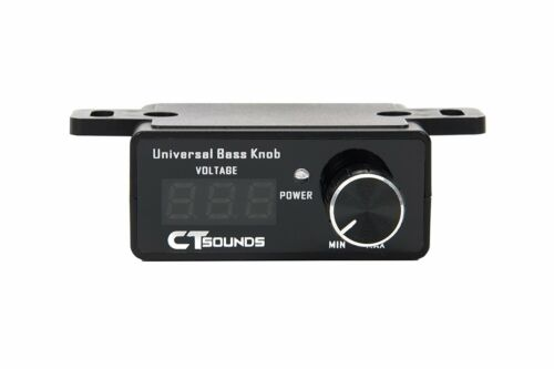 CT Sounds Universal Bass Knob for Car Amplifier with Digital Volt Meter Display
