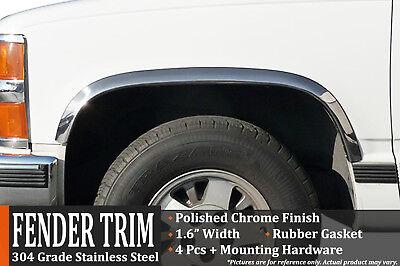 1988-1998 CK Pickup / GMC Sierra (With Side Moldings) Fender Trim Wheel Molding (Wheel Molding Trim)