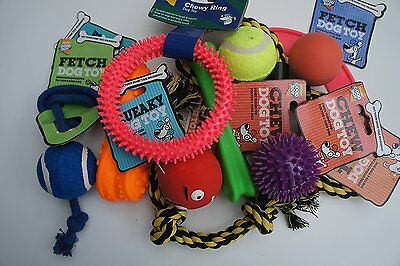 11 x GENUINE ARMITAGE GOOD BOY DOG TOYS ASSORTED ROPE RUBBER VINYL BOUNCY SQUEAK