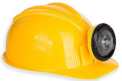 Kangaroo Adult or Kids Adjustable Construction Miner Hard Hat with Light NEW