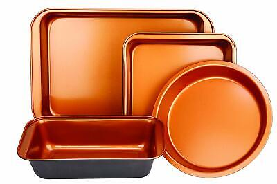 New Standard Copper Bakeware Pan Set Oblong Round Rectangular Brownie Meat Loaf  Bakeware Meat Loaf Pan