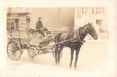 Store Delivery Wagon (c.1910 RPPC California ? Produce Co. Store & Delivery)