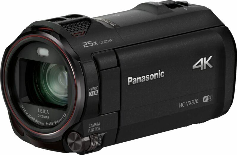 Open-Box Excellent: Panasonic - HC-VX870K 4K Ultra HD Flash Memory Camcorder ...