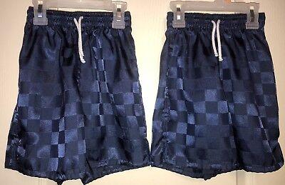 High Five Soccer Shorts  Boys Girls Youth Size Small Navy Nylon Check (High Five Girls Shorts)