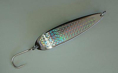 6 Pieces 9oz Crocodile Spoons Silver/chrome Fishing Lures - With 9/0 Siwash Hook