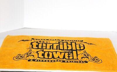 Vintage Halloween Myron Cope's Terrible Towel-Pittsburgh Steelers-Rare! - Pittsburgh Steelers Halloween