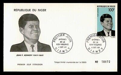 DR WHO 1968 NIGER FDC JFK JOHN F KENNEDY  C239835