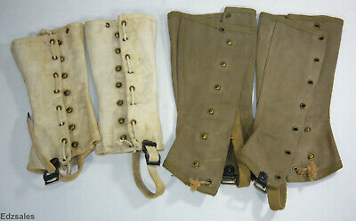 Spats, Gaiters, Puttees – Vintage Shoes Covers 2 Sets of Military Spats - Navy White Canvas + Green Gaiters $70.00 AT vintagedancer.com