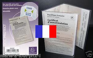 Pochette de protection pour carte grise protege housse - Pochette plastique pour carte postale ...